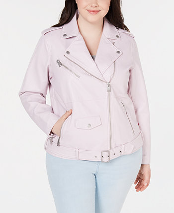 Trendy Plus Size Поддельный-Leather Oversized Moto Jacket Levi's®