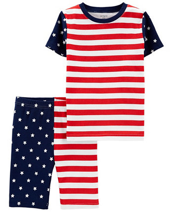 Boys and Girls 4th of July Snug Fit Pajama, 2 Piece Set Carters