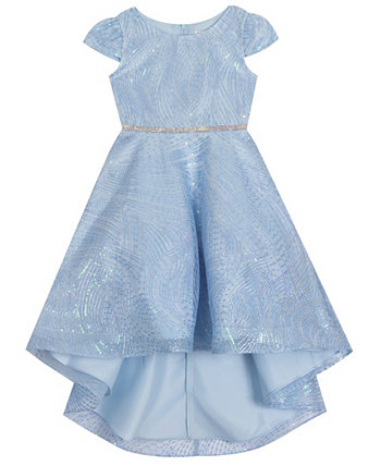 Little  Girl Sequin Mesh Hi Low Dress Rare Editions
