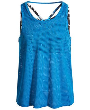 Big Girls Layered-Look Mesh Tank, Created for Macy's Ideology
