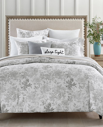 Watercolor Leaf 300-Thread Count 2-Pc. Twin Comforter Set, Created for Macy's Charter Club