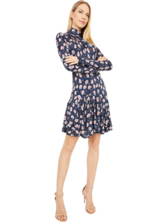 Long Sleeve Thistle Fleur Turtleneck Dress Rebecca Taylor