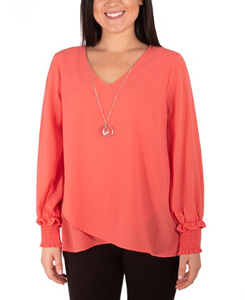 Women's Long Sleeve Crossover Tunic NY Collection