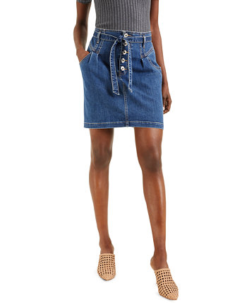 INC Tie-Waist Denim Mini Skirt, Created for Macy's INC International Concepts