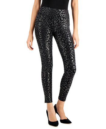 INC Metallic Leopard-Print Leggings, Created for Macy's INC International Concepts