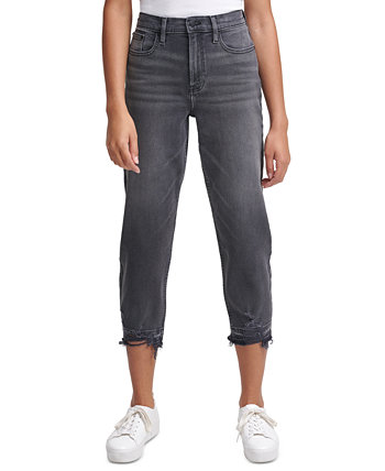 High-Rise Cropped Straight-Leg Jeans Calvin Klein