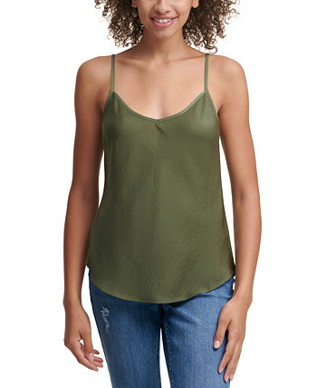 Charmeuse V-Neck Top Calvin Klein