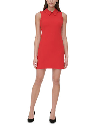 Collared Scuba Crepe Sheath Dress Tommy Hilfiger