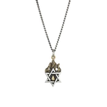 New Classics Star Of David Goldtone Sterling Silver Necklace King Baby Studio