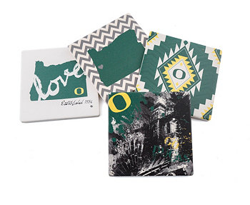 University of Oregon Spirit Coasters, Set of 4 THIRSTYSTONE