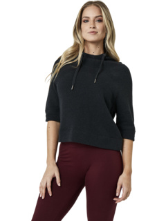 Organic Cotton Cropped Funnel Neck Pullover PACT