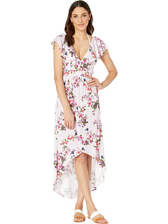 Victorian Floral High-Low Dress Cover-Up Nanette Lepore