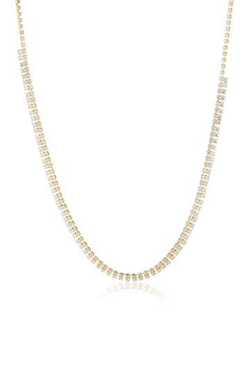 Double Row CZ Necklace CZ By Kenneth Jay Lane