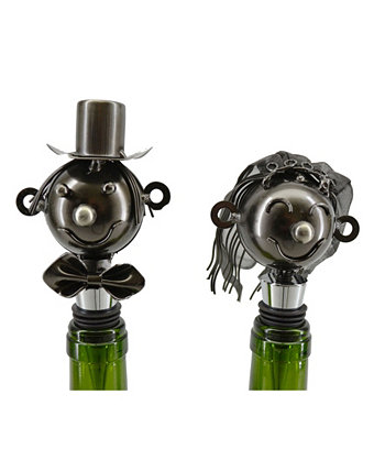 Bride and Groom Bottle Stopper Wine Bodies