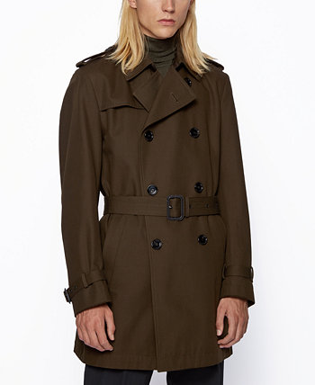 BOSS Men's Dan6 Regular-Fit Trench Coat BOSS Hugo Boss