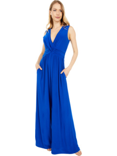Jersey Shirring Wrap Front Jumpsuit Vince Camuto