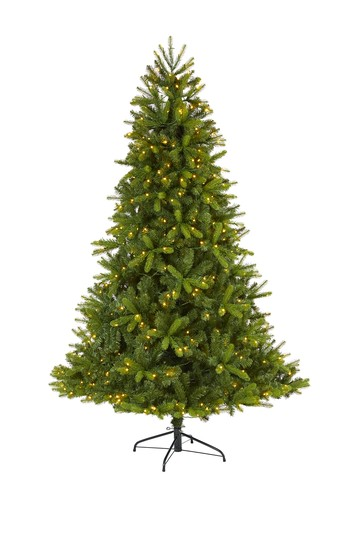 7ft. New Haven Spruce    Natural Look    Artificial Christmas Tree with 500 LED Lights NEARLY NATURAL