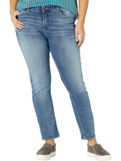 Plus Size Avery High-Rise Curvy Fit Straight Leg Jeans W94443EPX226 Silver Jeans Co.