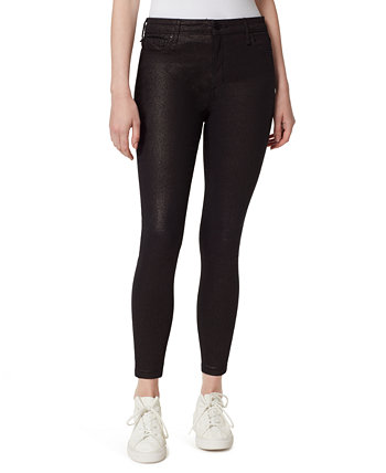 High-Rise Skinny Ankle Sparkle Jeans William Rast