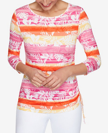 Women's Misses Knit Stripe Top Ruch Ruby Rd.