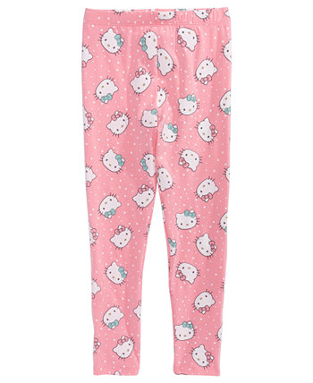 Little Girls Dot Leggings Hello Kitty
