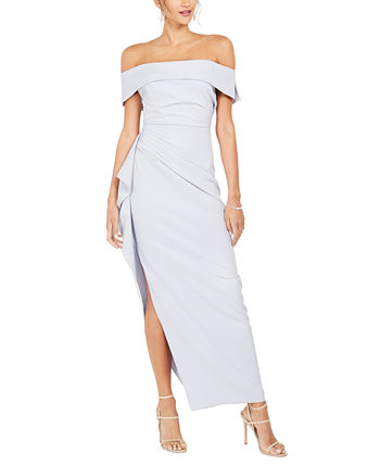 Ruffled Off-The-Shoulder Gown Vince Camuto
