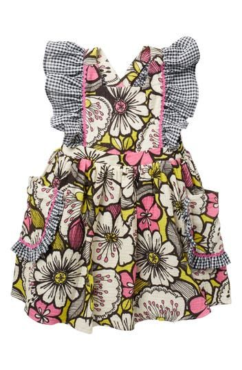 Floral Gauze Pinafore Dress (Toddler & Little Kid) Pastourelle by Pippa and Julie