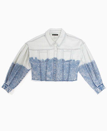 INC Volume-Sleeve Cropped Jean Jacket, Created for Macy's INC International Concepts