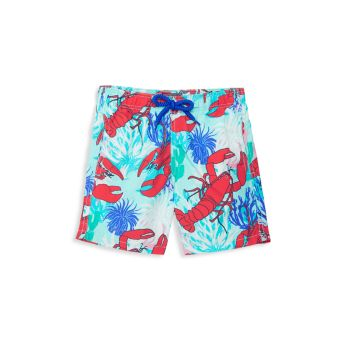Little Boy's & Boy's Lobster Print Swim Trunks VILEBREQUIN