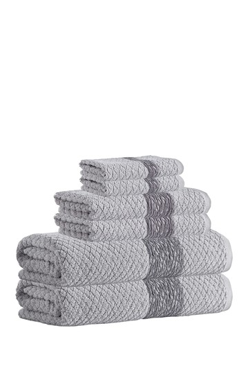 Anton Turkish Cotton 6-Piece Towel Set - Silver Enchante Home