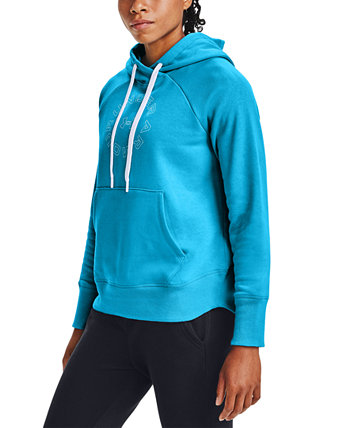 Rival Fleece Metallic Hoodie Under Armour