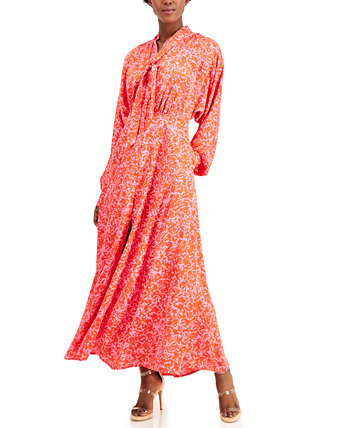 INC Petite Tie-Neck Maxi Dress, Created for Macy's INC International Concepts