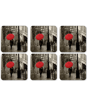 Pimpernel Paris Stroll Set of 6 Coasters Portmeirion