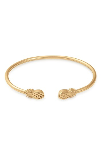 14K Gold Plated Sterling Silver Pineapple Cuff Bracelet Alex and Ani