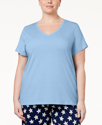 Plus Size V-Neck Pajama Top HUE
