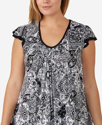 Plus Size Yours to Love Short Sleeve Top Ellen Tracy