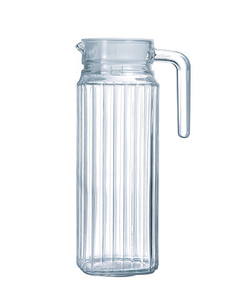 Quadro Jug with White Lid Luminarc