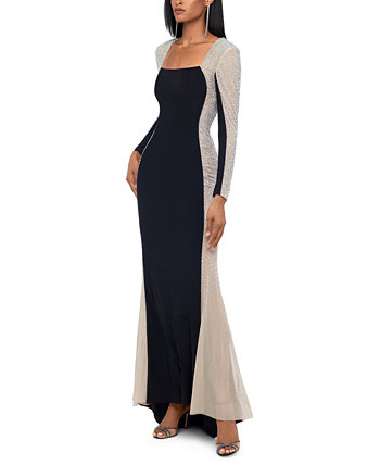 Embellished Colorblocked Gown XSCAPE