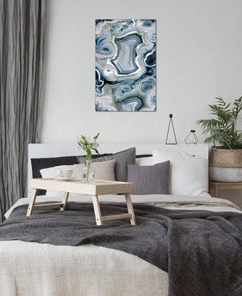 """Sterling Sapphire Geode"" by 5by5collective Gallery-Wrapped Canvas Print (26 x 18 x 0.75) ICanvas"