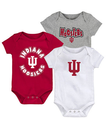 Baby Indiana Hoosiers Everyday Fan 3 Piece Creeper Set Outerstuff