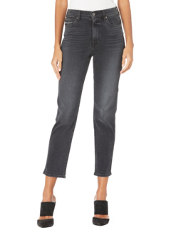 High-Waist Cropped Straight in Luxe Vintage Coal 7 For All Mankind