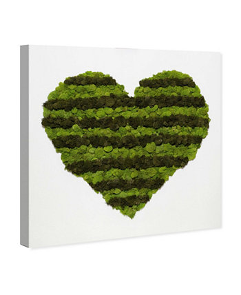"""Heart of Moss Canvas Art, 24"""" x 24"""" Oliver Gal"""