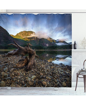 Driftwood Shower Curtain Ambesonne