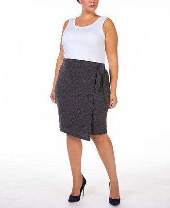Plus Size Wrap Knit Skirt Black Tape