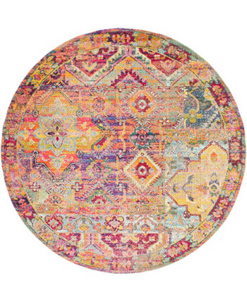 Newhedge Nhg7 Multi 8' x 8' Round Area Rug Bridgeport Home