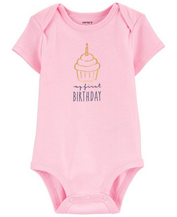 Baby Girl My First Birthday Original Bodysuit Carters