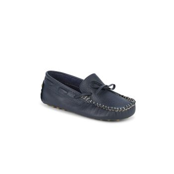 Kid's Leather Driving Loafers Elephantito