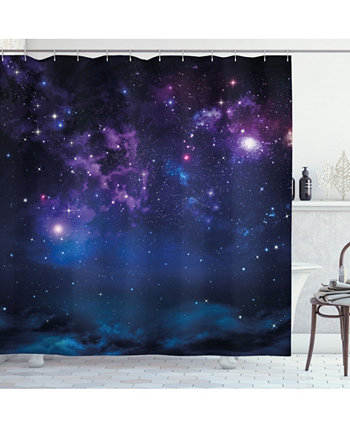 Space Shower Curtain Ambesonne