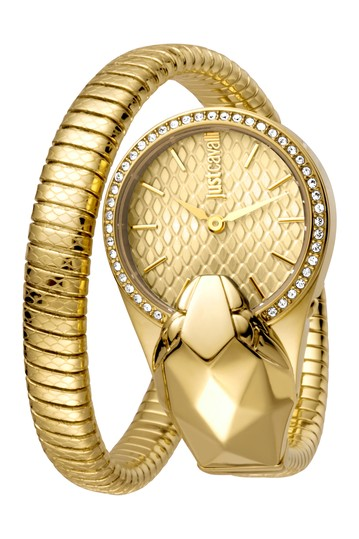 Women's Glam Chic Snake Texture Dial Bracelet Watch, 26mm Just Cavalli