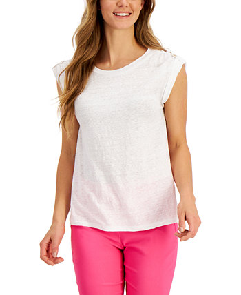 Linen Top, Created for Macy's Charter Club